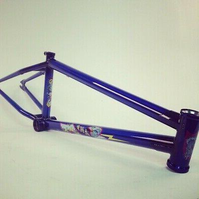 "FRAME TRANS BLUE BMX 21.25"" CLARK SIGNATURE"