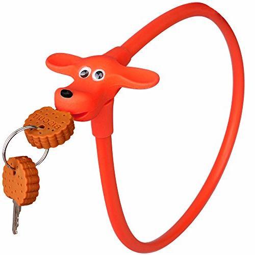 silicone bike lock red dog