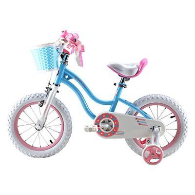 Royalbaby Stargirl Girl's Bike, 18 inch Wheels, Blue