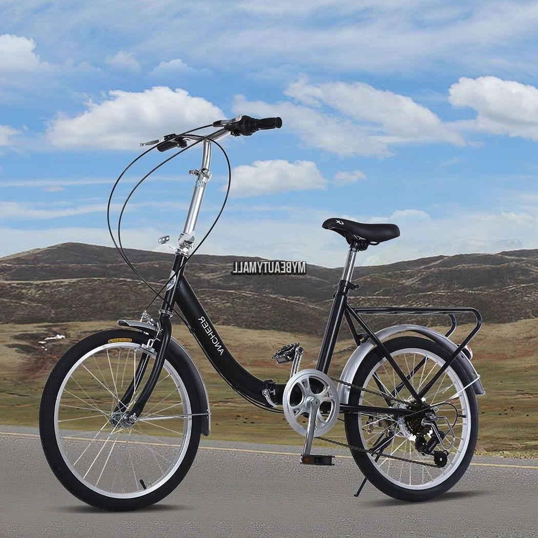 US SELLER! 6 Speed Folding BIKE Foldable Bicycle & CARRIER S