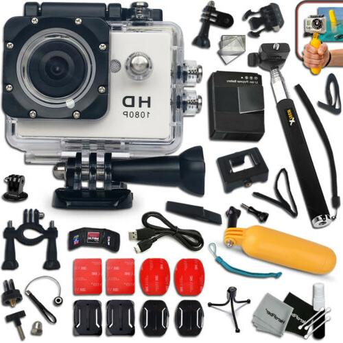 HD 1080p Waterproof ACTION Camera / Camcorder for KIDS + Mon