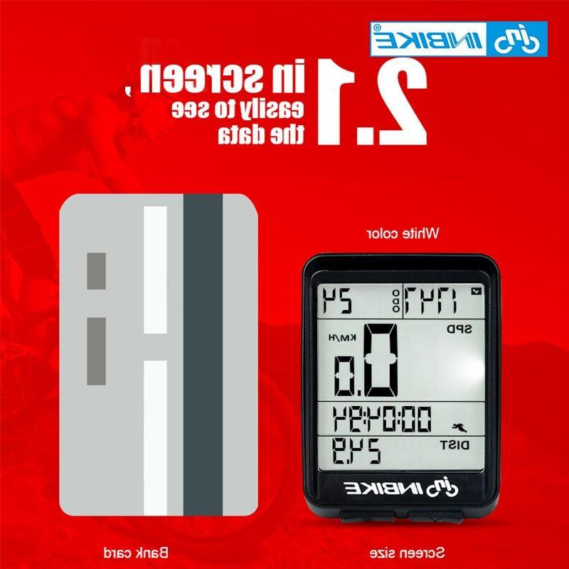INBIKE Wireless Wired <font><b>Bike</b></font> <font><b>Cycling</b></font> Odometer Speedometer Rate