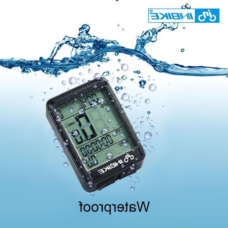 INBIKE Waterproof Wireless And <font><b>Bike</b></font> <font><b>Cycling</b></font> Speedometer Watch LED Rate