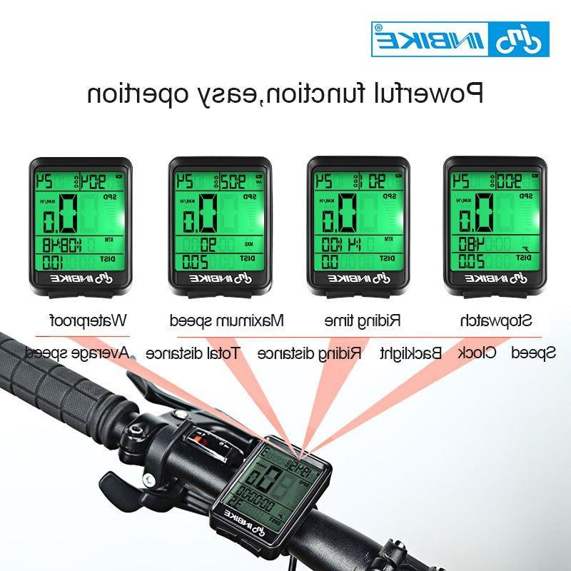 INBIKE Wireless <font><b>Bike</b></font> <font><b>Cycling</b></font> Odometer Speedometer Rate