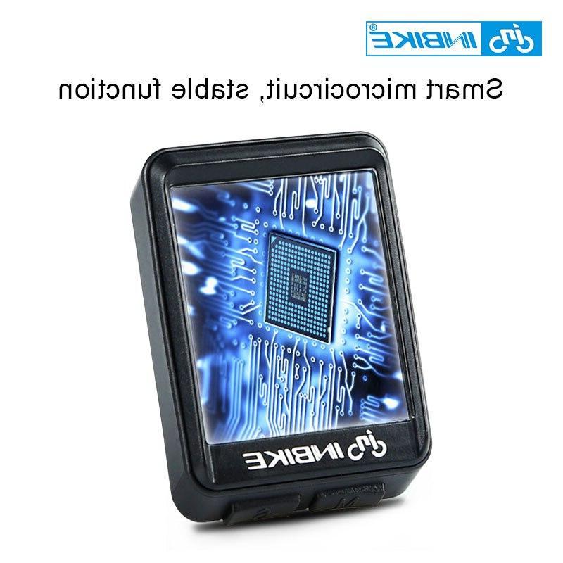 INBIKE Bicycle <font><b>Computer</b></font> Wireless <font><b>Bike</b></font> <font><b>Cycling</b></font> Odometer Speedometer Watch Rate