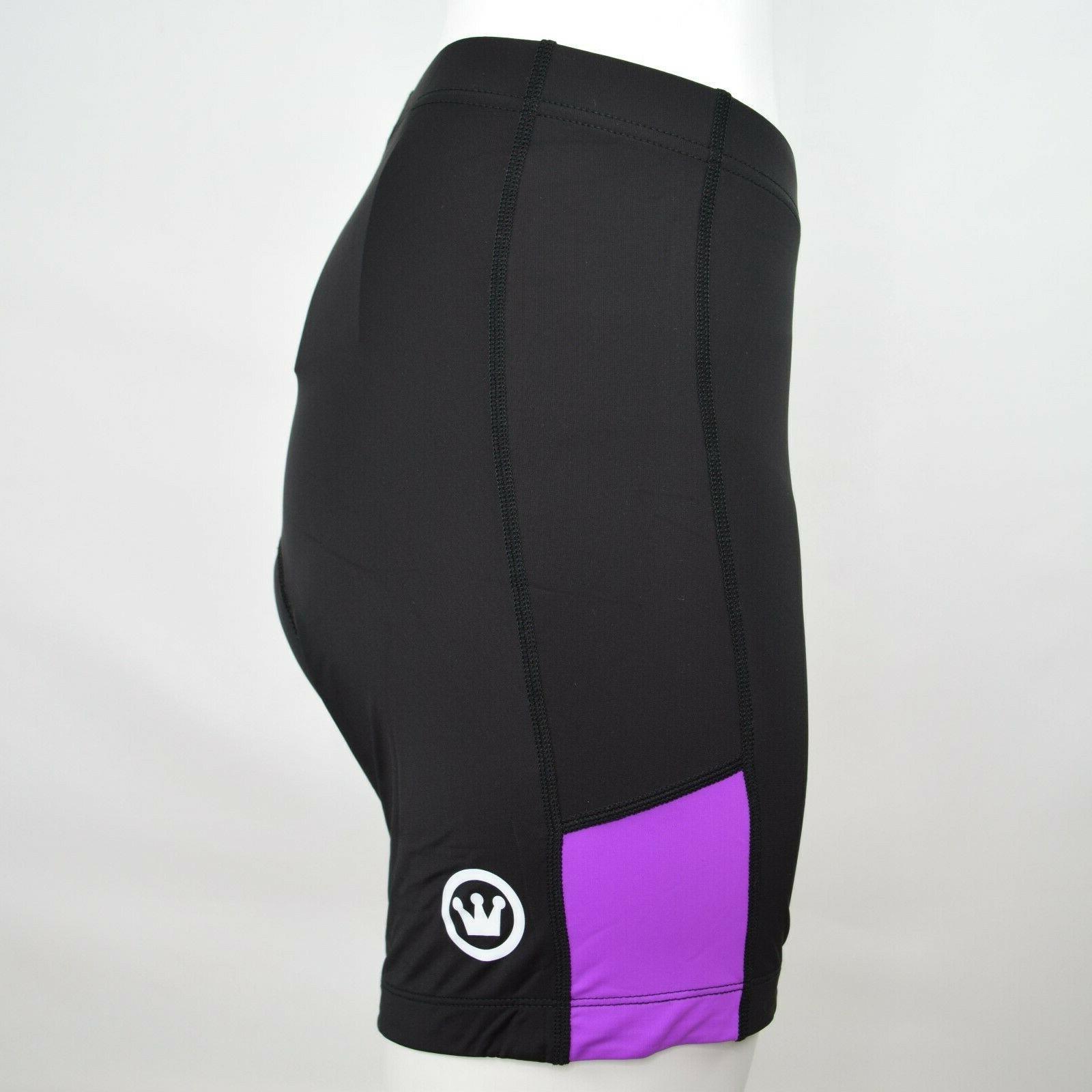 Canari Womens Shorts Cycling Bike Padded Purple Large NWT
