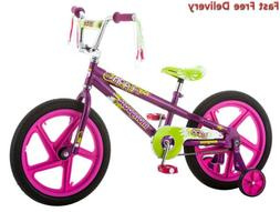 "Mongoose Girls Lark Bicycle with 18"" Wheels Foot Break, Stee"