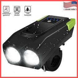 LED Bicycle Headlight USB Rechargeable Bike Head Light Front
