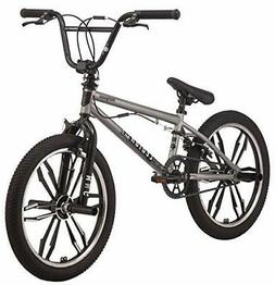 Mongoose Legion Freestyle BMX Bike 20-Inch Wheels Silver Leg