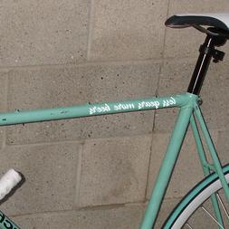 """less gears more beers"" fixed gear fixie single speed bicycl"