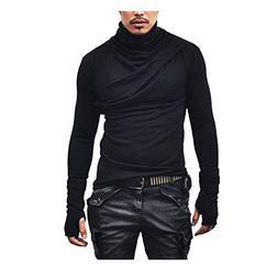 Men's Long Sleeve Tops Fashion Bloue Fashion T-Shirts Autumn