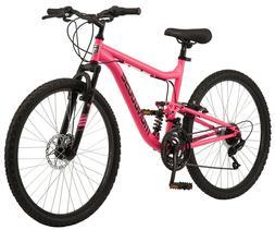 Mongoose Major Mountain Bike 26 inch wheels 21 speeds pink w