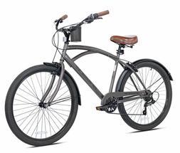 Kent Men Cruiser Bike 26 inch Wheels 7 speeds Steel Frame Gr