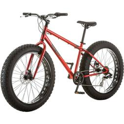 Men's All-Terrain Fat Tire Bike Mongoose Hitch, Red
