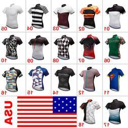 Men's Cycling Clothing Bicycle Jersey Sportswear Short Sleev