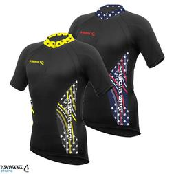 Mens Cycling Jersey Half Sleeves Breathable Team Racing Bicy