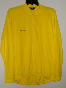 Canari Mens L/S Yellow 1/2 Zip Cycling Bike Jersey NWD- Size