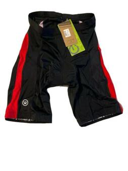 Men's X-Large Bike Shorts Black Red Padded Canari Was $55