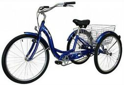 Schwinn Meridian Adult Tricycle With 26-Inch Wheels In Blue,