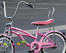 """Micargi Hero, Pink - Girls' 20"""" Lowrider Bike"""