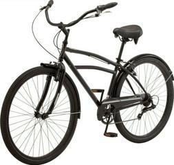 """Schwinn Midway 29"""" 7 Speed Mens Beach Cruiser Bike - Black -"""