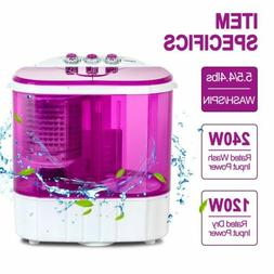 Mini 10lbs Portable Washing Machine Compact Washer Spin Drye