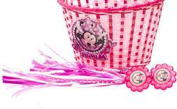 Bell Minnie Kids Bike Accessory Basket & Streamers Free Ship