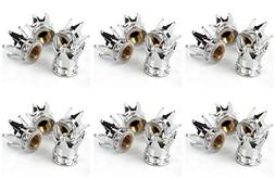 MM-Sports-USA Bicycle  Set of 4 Crown Shaped Tire Air Valve
