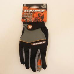 Mongoose Adult Small Full-Finger Black Padded BMX Mountain B