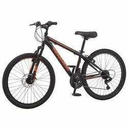 "Mongoose Excursion Mountain Bike, Boys', 24"", Black/Orange"