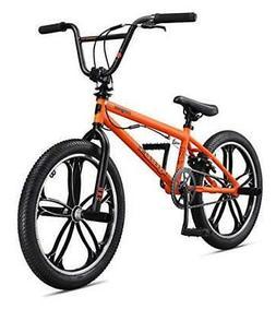 Mongoose Legion Sidewalk Freestyle BMX Bike For Kids, Orange