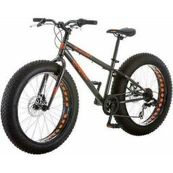 "Mongoose Logan Boys 24"" Bicycle Grey Fat Tire 7 Speed Steel"