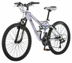 Mongoose R3577 24-Inch Outdoor Cycling Girls Maxim Full Susp