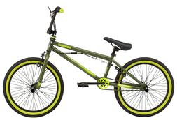 Mongoose Rad Attack kids BMX bike, 20-inch wheel, Boys, Gree