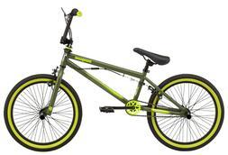 Mongoose Rad Attack kids BMX bike, 20-inch wheel, Boys, Gree