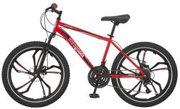 Mongoose Singe Boys Mountain Bike 24 Wheels Red NEW