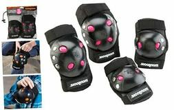 Mongoose Youth BMX Bike Gel Knee and Elbow Pad Set, Multi-Sp