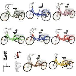 """Adult 24"""" 3-Wheel Shimano 7-Speed Tricycle Trike Bicycle Bik"""