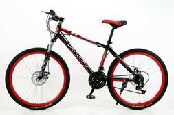 Mountain Bike 21 Speed Steel Gear shift 26 Inch Double Disc
