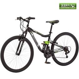 "Mongoose Mountain Bike Men 27.5""  Trail Riding Black Dual"