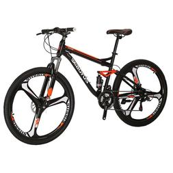 "Mountain Bike 27.5"" Mag wheels Full Suspension Bicycle 21 Sp"