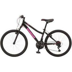 "24"" Girls' Mountain Bike Bicycle Front Suspension 21 Speed S"