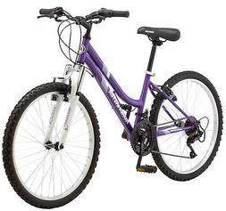 """New Roadmaster 24"""" Granite Peak Girls Mountain Bike, Purple"""
