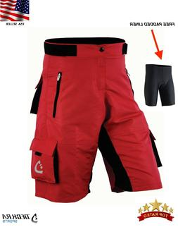 Deckra MTB Cycling Shorts Coolmax Padded Liner Bicycle Mount