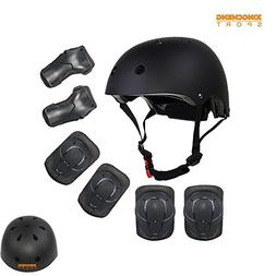Kids Multi-Sport Helmet With Knee&Elbow Pads and Wrists 7 Pi