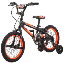 "Mongoose Mutant 16"" BMX Kids Bike Black and Orange"