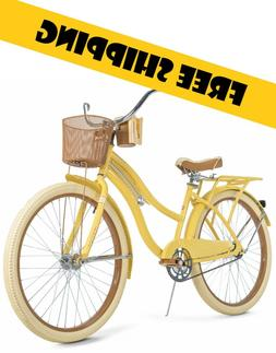 """Huffy, Nel Lusso 26"""" Classic Cruiser Bike with Perfect Fit"""