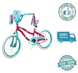 "New 20"" Blue Pink Girl Bike Kid Ride On Child Cycling Bicycl"