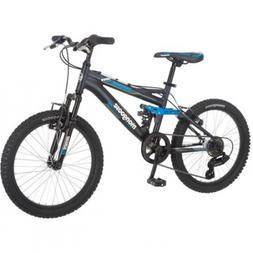 "NEW 20"" Mongoose Massif Boys 7 Speed Fat Tire Mountain Bike"