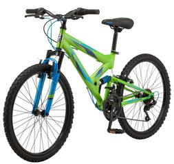 "NEW Mongoose 24"" Spectra Boys' Steel Frame Mountain Bike - G"